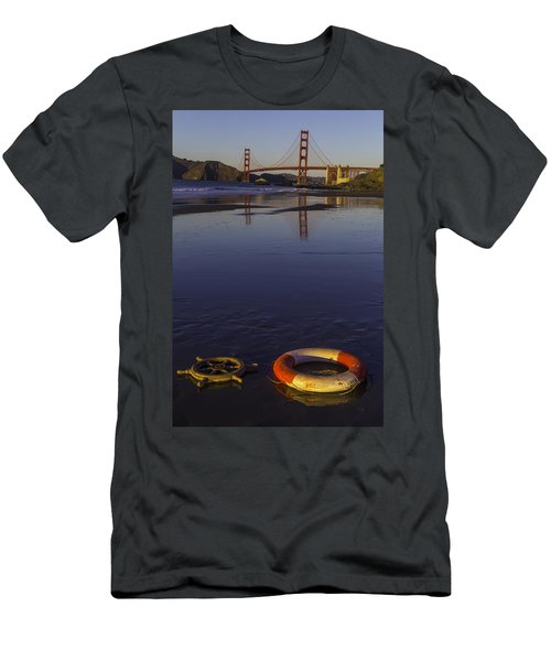 Ships Wheel And Life Ring Men's T-Shirt (Athletic Fit)