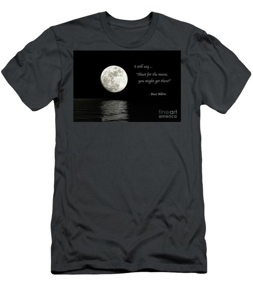 Shoot For The Moon Men's T-Shirt (Athletic Fit)