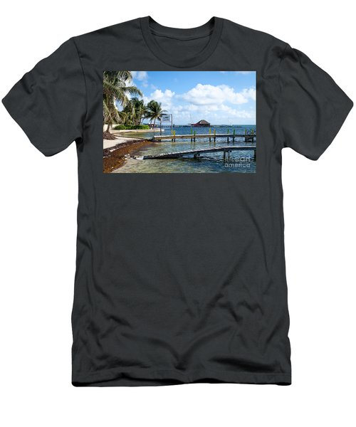 Men's T-Shirt (Slim Fit) featuring the photograph Shoreline by Lawrence Burry