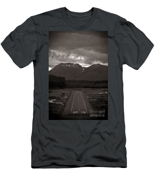 Short Runway Men's T-Shirt (Slim Fit) by Darcy Michaelchuk
