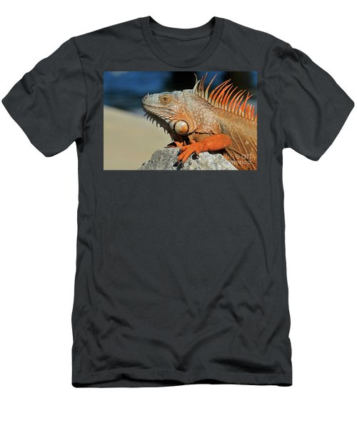 Showing My Spikes Men's T-Shirt (Slim Fit) by Pamela Blizzard