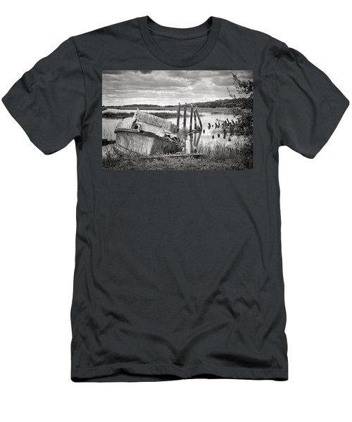 Shrimp Boat Graveyard Men's T-Shirt (Athletic Fit)