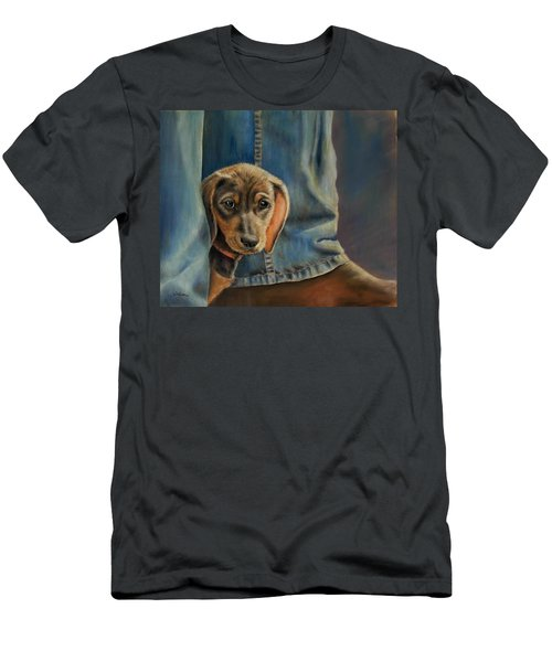 Men's T-Shirt (Slim Fit) featuring the painting Shy Boy by Ceci Watson