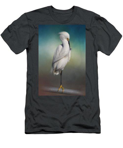 Shy Egret Men's T-Shirt (Athletic Fit)