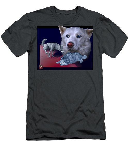 Siberian Husky - Modern Dog Art - 0002 Men's T-Shirt (Athletic Fit)