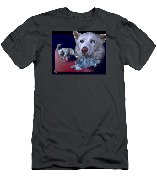 Siberian Husky - Modern Dog Art - 0002 Men's T-Shirt (Athletic Fit)