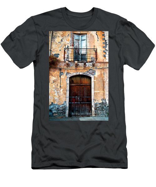 Men's T-Shirt (Athletic Fit) featuring the photograph Sicilian Facade by Silva Wischeropp