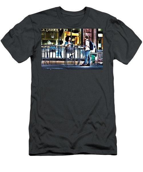 048 - Sidewalk Cafe Men's T-Shirt (Athletic Fit)