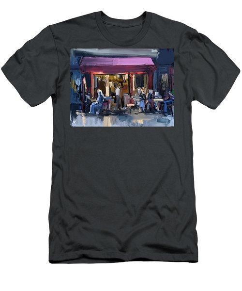Sidewalk Scene Men's T-Shirt (Athletic Fit)