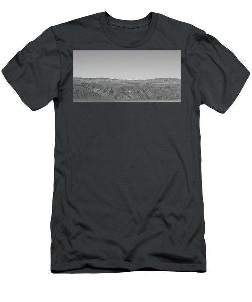 Men's T-Shirt (Athletic Fit) featuring the photograph Sierra Nevada Range From Death Valley by Frank DiMarco