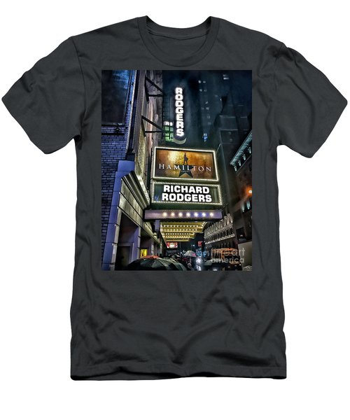 Sights In New York City - Hamilton Marquis Men's T-Shirt (Slim Fit) by Walt Foegelle