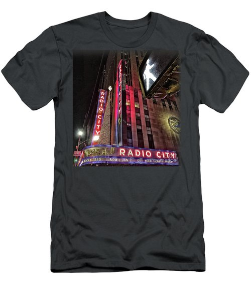 Men's T-Shirt (Slim Fit) featuring the photograph Sights In New York City - Radio City by Walt Foegelle