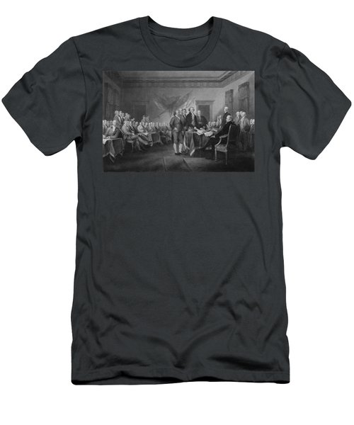 Signing The Declaration Of Independence Men's T-Shirt (Slim Fit) by War Is Hell Store