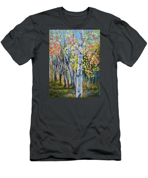 Signs Of Autumn Men's T-Shirt (Slim Fit) by Patti Gordon