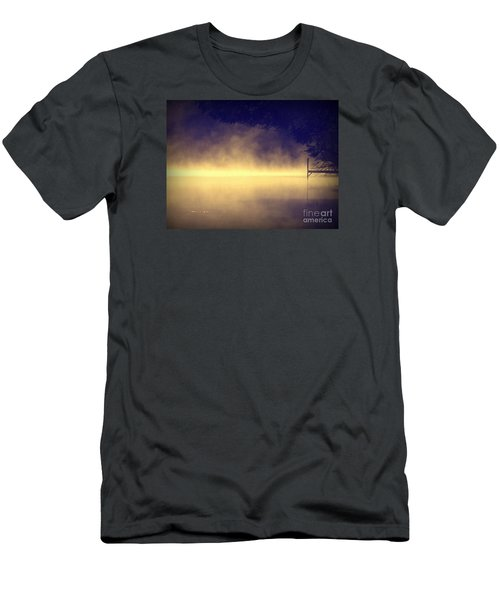 Men's T-Shirt (Slim Fit) featuring the photograph Silent Lake by France Laliberte