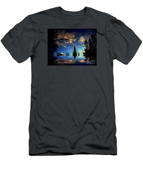 Silent Night Men's T-Shirt (Slim Fit) by Elfriede Fulda