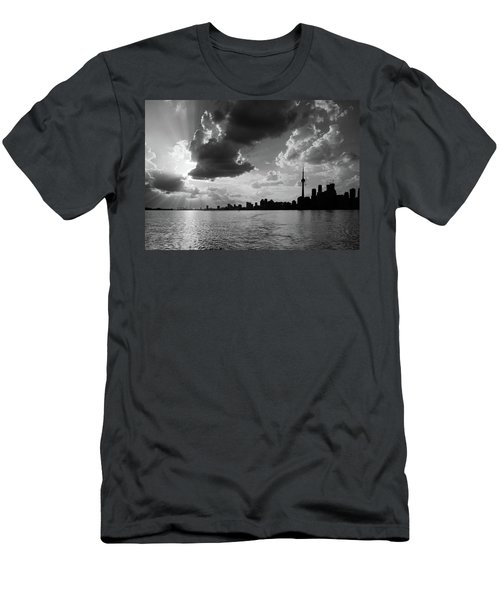 Silhouette Cn Tower Men's T-Shirt (Slim Fit) by Nick Mares