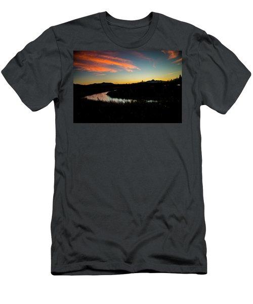 Silhouette Sunset Men's T-Shirt (Athletic Fit)