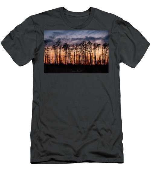 Silhouetted Sunset Men's T-Shirt (Athletic Fit)