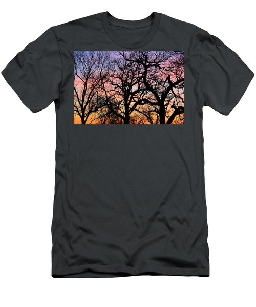 Men's T-Shirt (Slim Fit) featuring the photograph Silhouettes At Sunset by Chris Berry