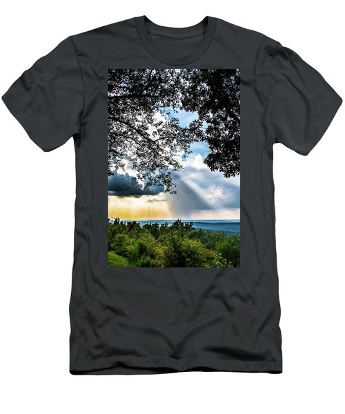 Men's T-Shirt (Slim Fit) featuring the photograph Silhouettes At The Overlook by Shelby Young