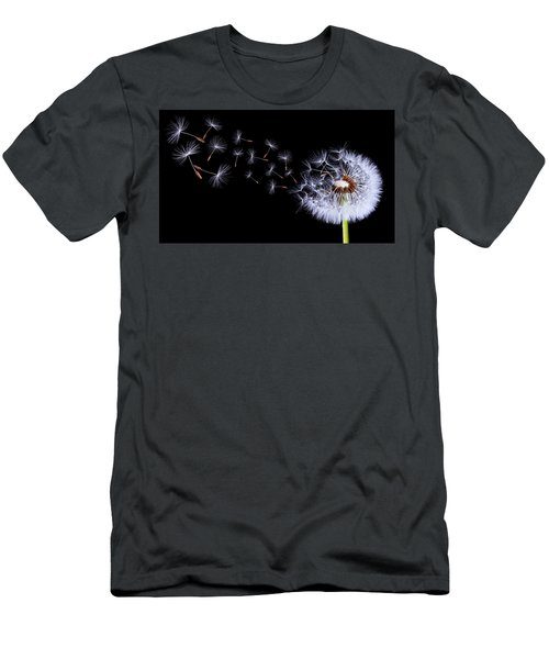 Silhouettes Of Dandelions Men's T-Shirt (Slim Fit) by Bess Hamiti