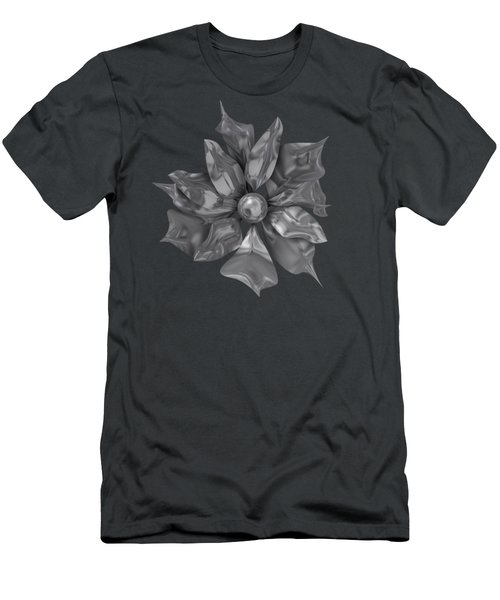 Silver Flower Men's T-Shirt (Athletic Fit)