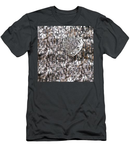 Men's T-Shirt (Slim Fit) featuring the photograph Silver Heart by Ulrich Schade