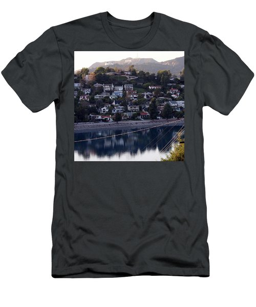 Silver Lake Reservoir And Hollywood Hills Men's T-Shirt (Athletic Fit)