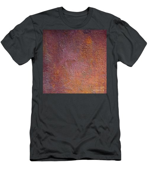 Men's T-Shirt (Slim Fit) featuring the mixed media Silver Plum by Michael Rock