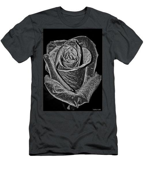Silver Rose Men's T-Shirt (Athletic Fit)