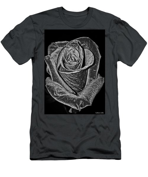 Silver Rose Men's T-Shirt (Athletic Fit)