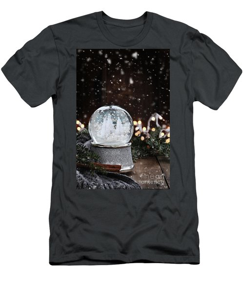 Silver Snow Globe Men's T-Shirt (Athletic Fit)