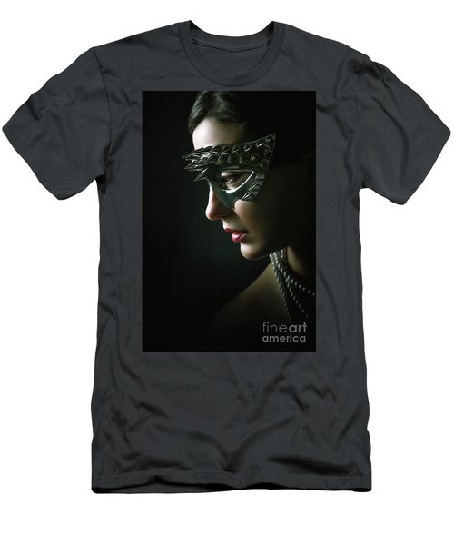 Men's T-Shirt (Athletic Fit) featuring the photograph Silver Spike Eye Mask by Dimitar Hristov