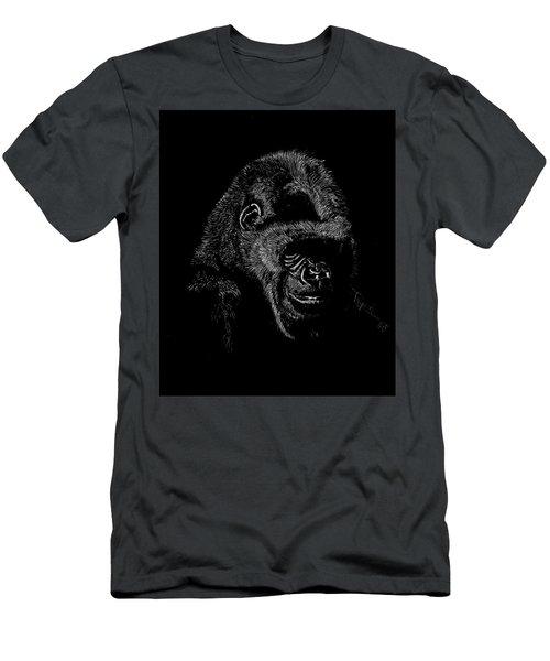Silverback Men's T-Shirt (Slim Fit) by Lawrence Tripoli