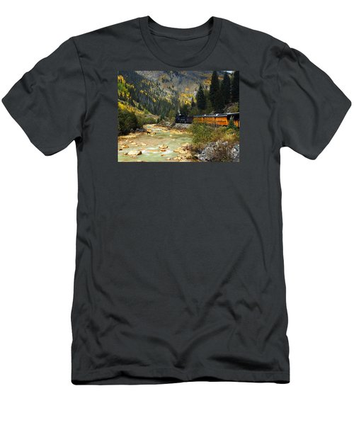 Men's T-Shirt (Slim Fit) featuring the photograph Silverton Bound by Kurt Van Wagner