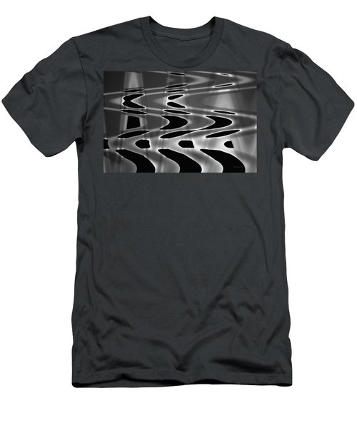 Silvery Abstraction Bw  Men's T-Shirt (Slim Fit) by David Gordon