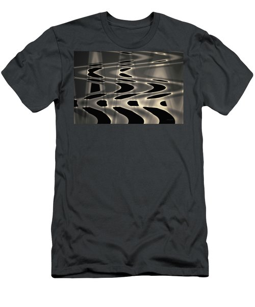 Men's T-Shirt (Athletic Fit) featuring the photograph Silvery Abstraction Toned  by David Gordon