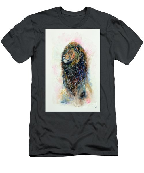 Men's T-Shirt (Athletic Fit) featuring the painting Simba by Zaira Dzhaubaeva