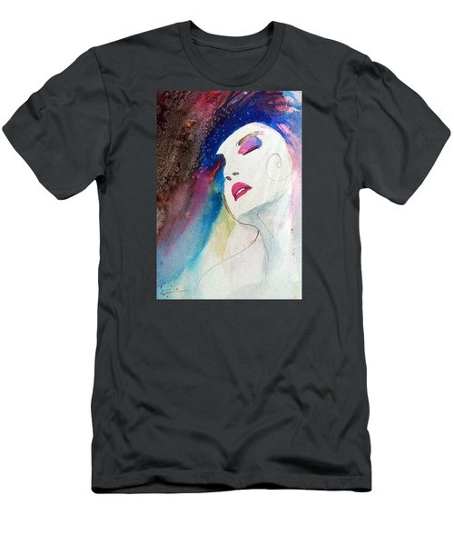 Men's T-Shirt (Slim Fit) featuring the painting Simonne by Ed Heaton