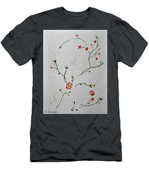 Simple Flowers #1 Men's T-Shirt (Slim Fit) by Carol Crisafi