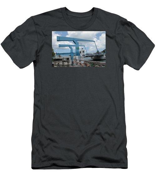 Simpson Bay Bridge St Maarten Men's T-Shirt (Slim Fit) by Christopher Kirby