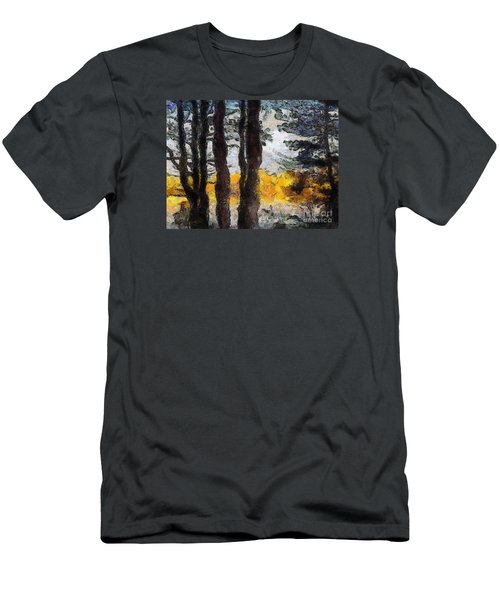 Simulated Van Gogh Scene Men's T-Shirt (Athletic Fit)