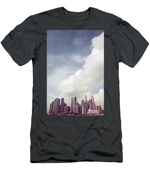 Men's T-Shirt (Slim Fit) featuring the photograph Singapore Cityscape by Joseph Westrupp