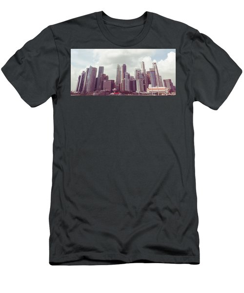 Men's T-Shirt (Slim Fit) featuring the photograph Singaport Cityscape The Second by Joseph Westrupp