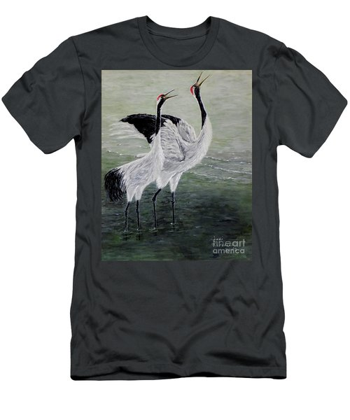 Singing Cranes Men's T-Shirt (Athletic Fit)