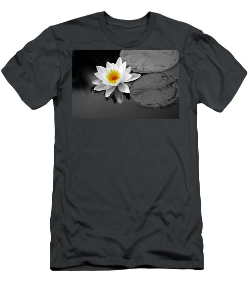 Men's T-Shirt (Slim Fit) featuring the photograph Single Lily by Shari Jardina