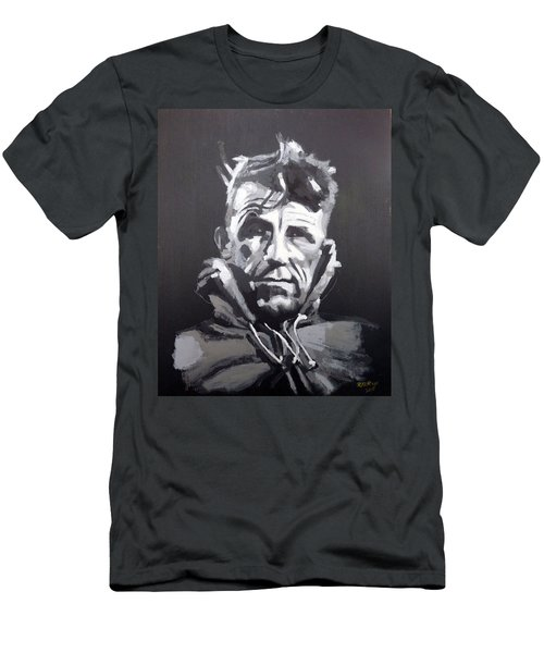 Men's T-Shirt (Athletic Fit) featuring the painting Sir Edmund Hillary by Richard Le Page