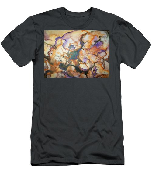 Men's T-Shirt (Slim Fit) featuring the painting Sistaz by Raymond Doward