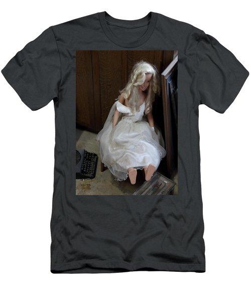 Men's T-Shirt (Slim Fit) featuring the photograph Sitting Doll by Viktor Savchenko